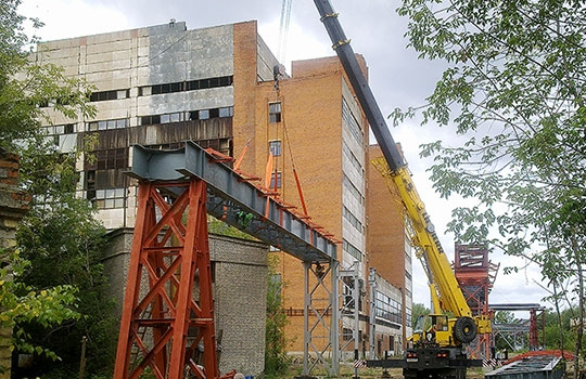 Работы УралГазСтроя - эстакада под паропровод